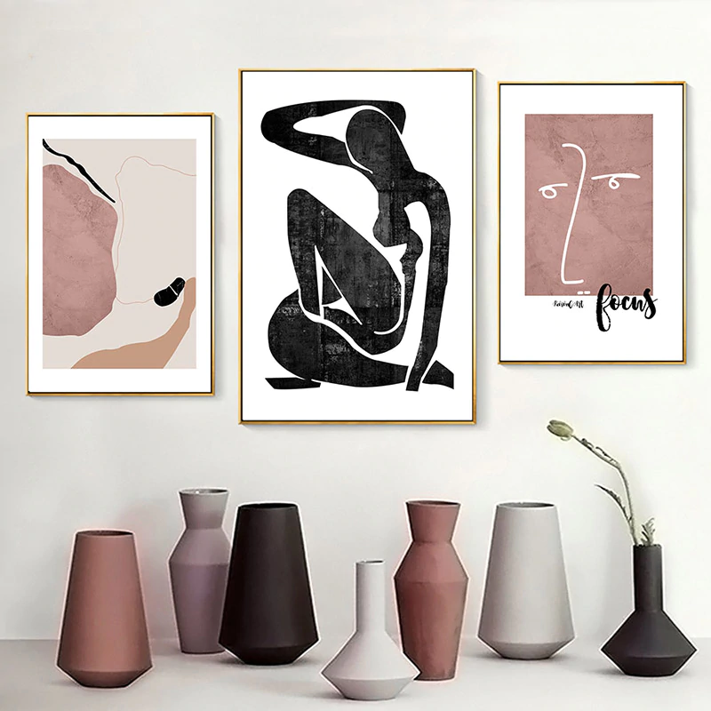 Abstract Vintage Vogue Renaissance Classic Gallery Wall Art Fine Art Canvas Prints Warm Hues Minimalist Nordic Home Decor Pictures