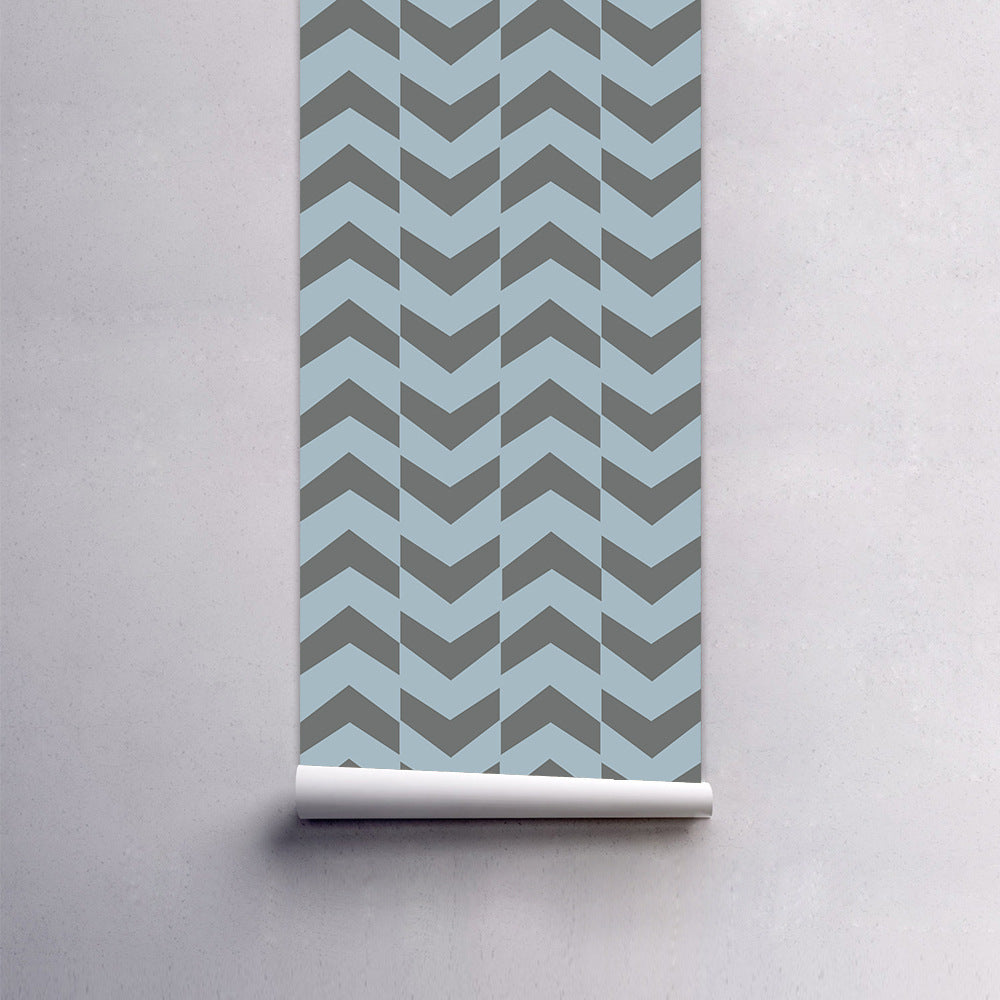 Abstract Zig Zags Self Adhesive PVC Wallpaper Wall Mural Peel & Stick Covering For Furniture Cabinets Surfaces Creative DIY For Kids Room Living Room Decor