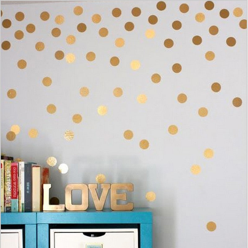 Adorable Polka Dots Wall Art Vinyl Wall Decals Removable Wall Stickers For Kids Bedroom Colorful Room Decor 80pcs Packs