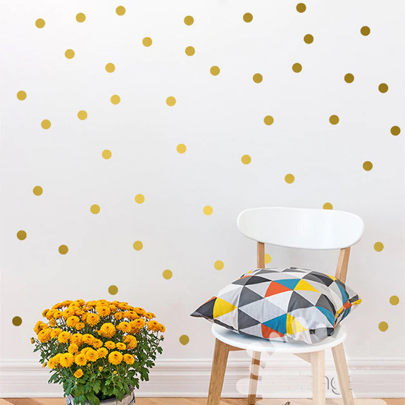 Adorable Polka Dots Wall Art Vinyl Wall Decals Removable Wall Stickers For  Kids Bedroom Colorful Room