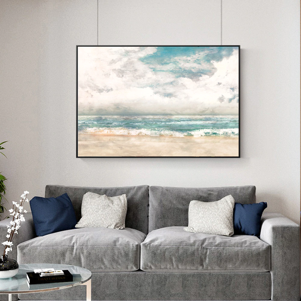 Big Sky Seascape Wall Art Fine Art Canvas Print Contemporary Landscape Pictures For Living Room Bedroom Classic Home Interior Decor