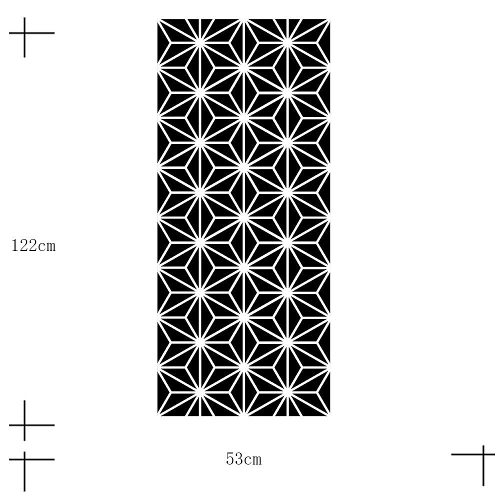 Black White Geometric Covering For Furniture Cabinets Surfaces Self Adhesive PVC Wall Mural Peel & Stick Vinyl Wallpaper Rolls For Creative DIY Home Decor
