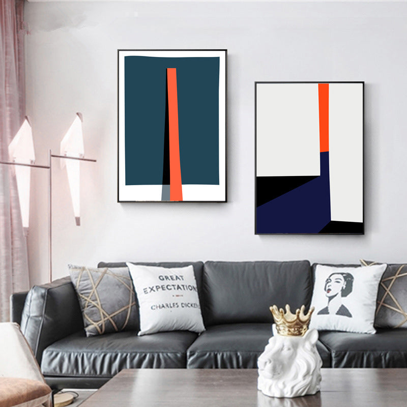 Bold Geometric Abstract Design Wall Art Posters Contemporary Art Canvas Prints Paintings For Modern Office Salon Home Living Room Art Decor