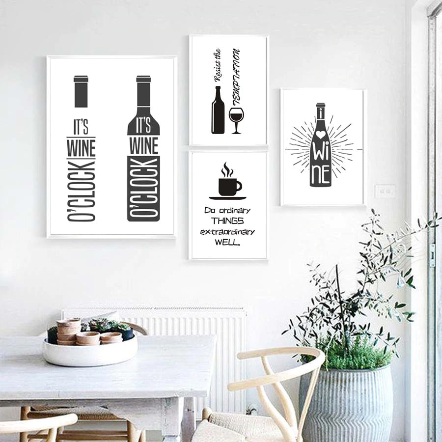 Cheeky Wine Lovers Quotes Minimalist Wall Art Black And White Fine Art Canvas Prints For Kitchen Restaurant Wine Bar Wall Art Decor