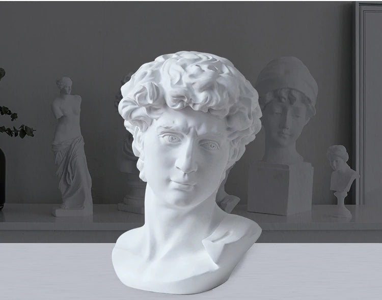 Classic Famous Renaissance Sculptures Resin Busts Miniatures Head & Shoulders Statues Nordic Style Ornaments Minimalist Home Interior Decor
