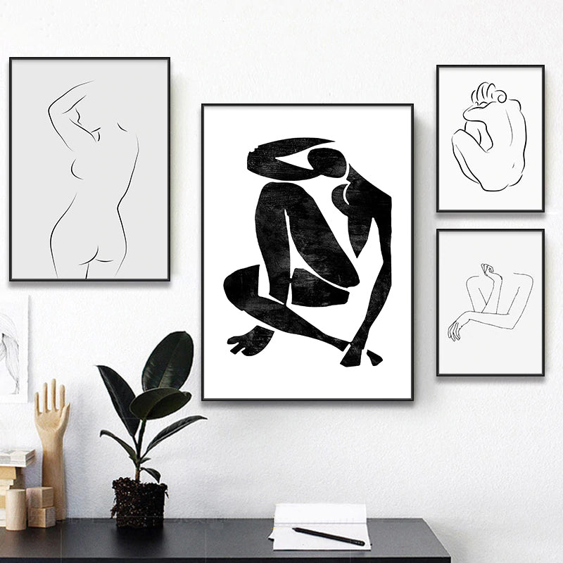 Vintage Vogue Famous Artists Abstract Sketch Matisse Picasso Figure Art Drawings Fine Art Canvas Prints Minimalist Wall Art Modern Home Decor
