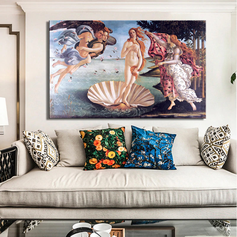 Classic Painting Botticelli's Birth of Venus Wall Art Poster Fine Art Canvas Print For Living Room Bedroom Office Hotel Wall Art Famous Painting Posters