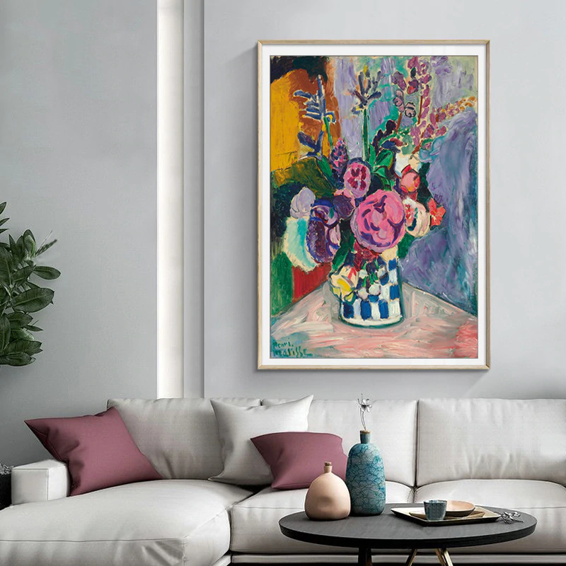 Classic Vintage Matisse Floral Abstract Wall Art Fine Art Canvas Prints Famous Artists Paintings Pictures For Living Room Home Decor