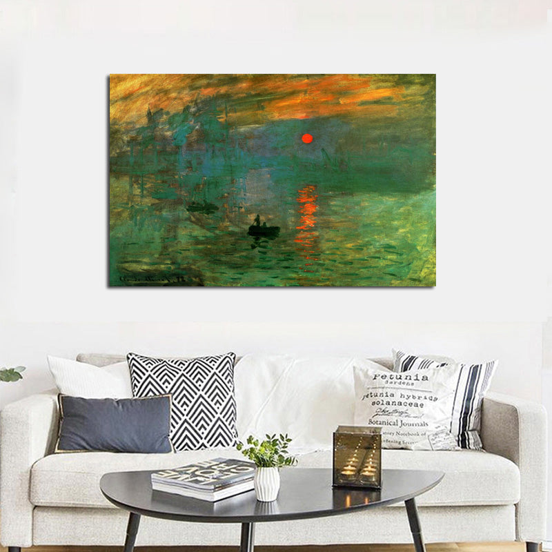 Claude Monet\'s Impression Sunrise Poster Famous Impressionist Painting Fine  Art Canvas Print Wall Art For Modern Living Room Home Decor