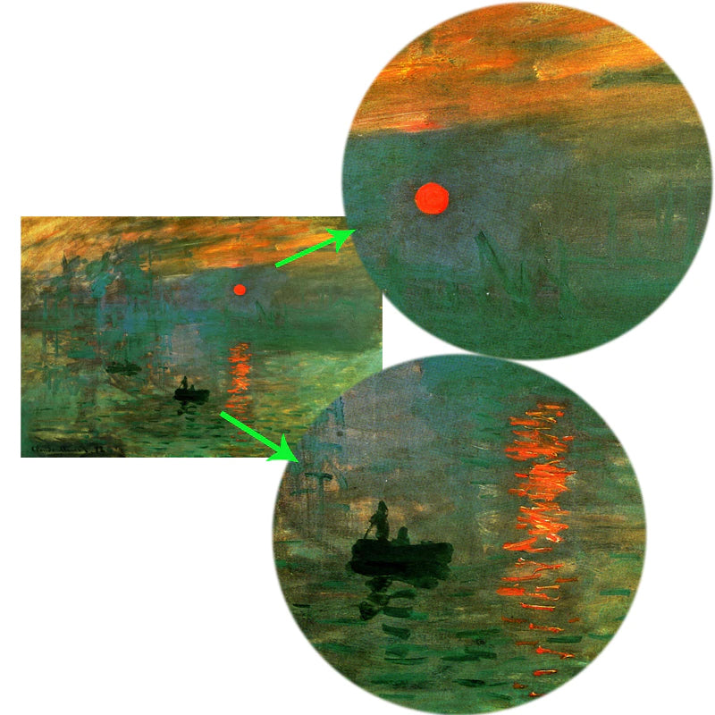 Claude Monet's Impression Sunrise Poster Famous Impressionist Painting Fine Art Canvas Print Wall Art For Modern Living Room Home Decor