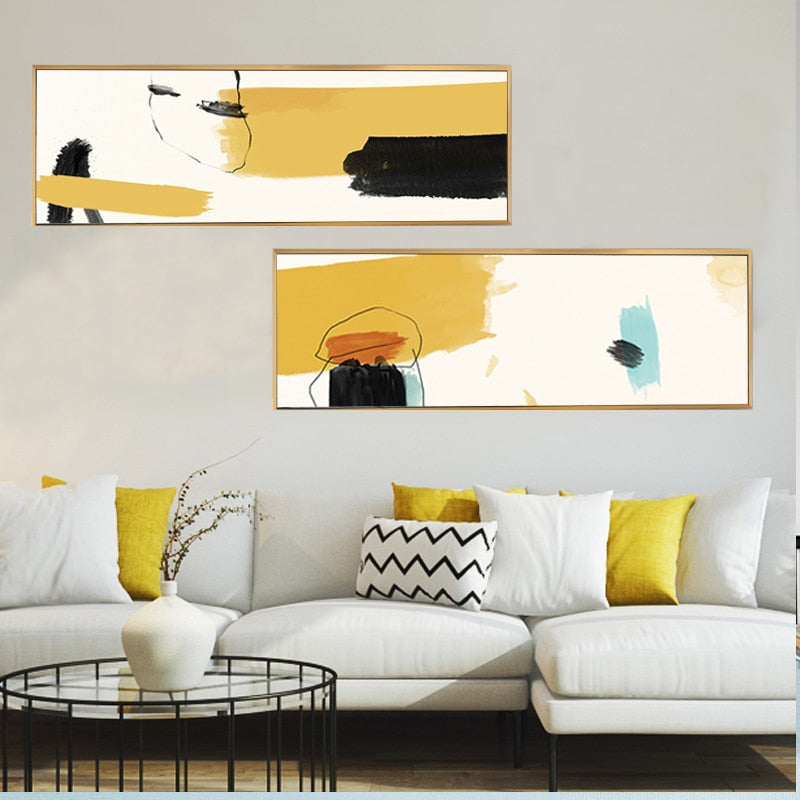 Colorful Abstract Watercolor Wall Art Paintings Fine Art Canvas Prints Nordic Posters For Living Room Bedroom Modern Home Office Decor