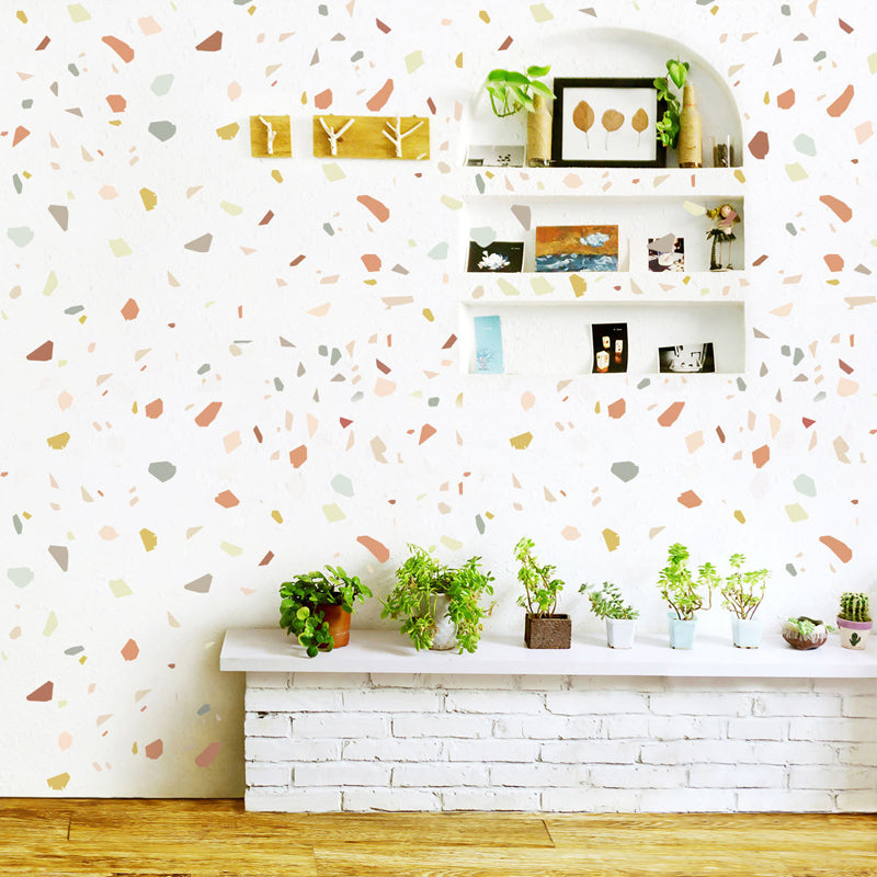 Colorful Creative Stone Pebbles Wall Decals Creative DIY Home Decor Removable PVC Wall Stickers For Living Room Dining Room Kids Bedroom Nursery Decor