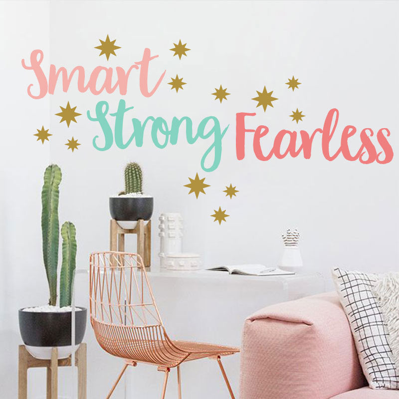 Colorful Inspirational Quote Wall Decal Removable Peel-and-stick Vinyl PVC Wall Mural For Girl's Bedroom Wall Decoration Simple Creative DIY Home Decor