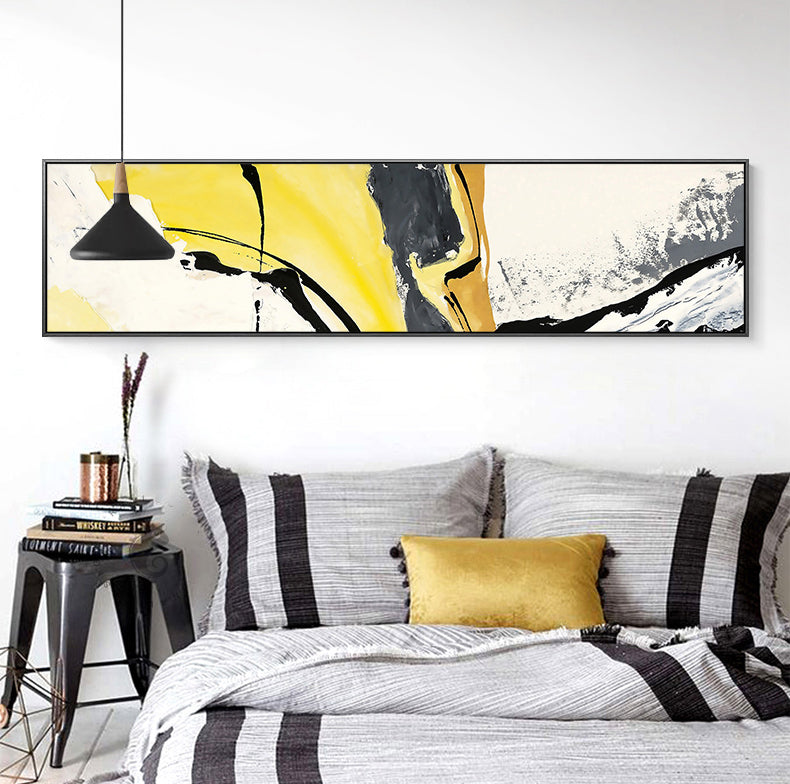 Colorful Modern Abstract Wide Format Wall Art Fine Art Canvas Prints Marble Theme Paint Splash Contemporary Pictures For Above Bed Above Sofa Wall Art