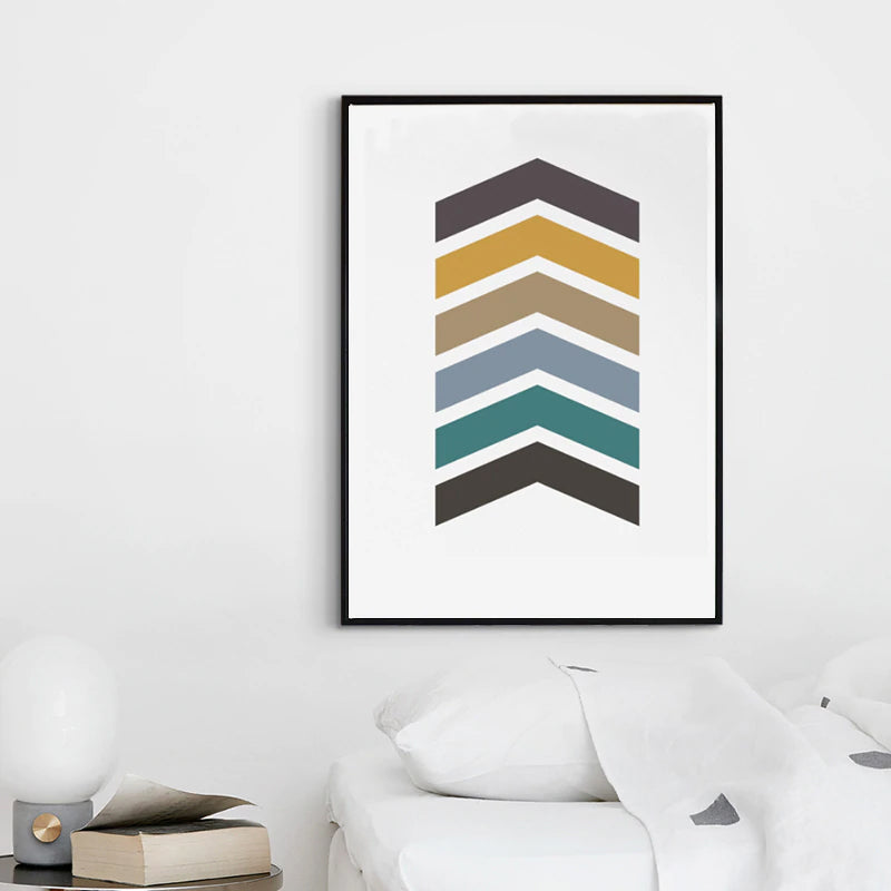 Colorful Nordic Earth Hues Abstract Arrows Wall Art Canvas Poster Prints Paintings For Modern Home Living Room Home Decor