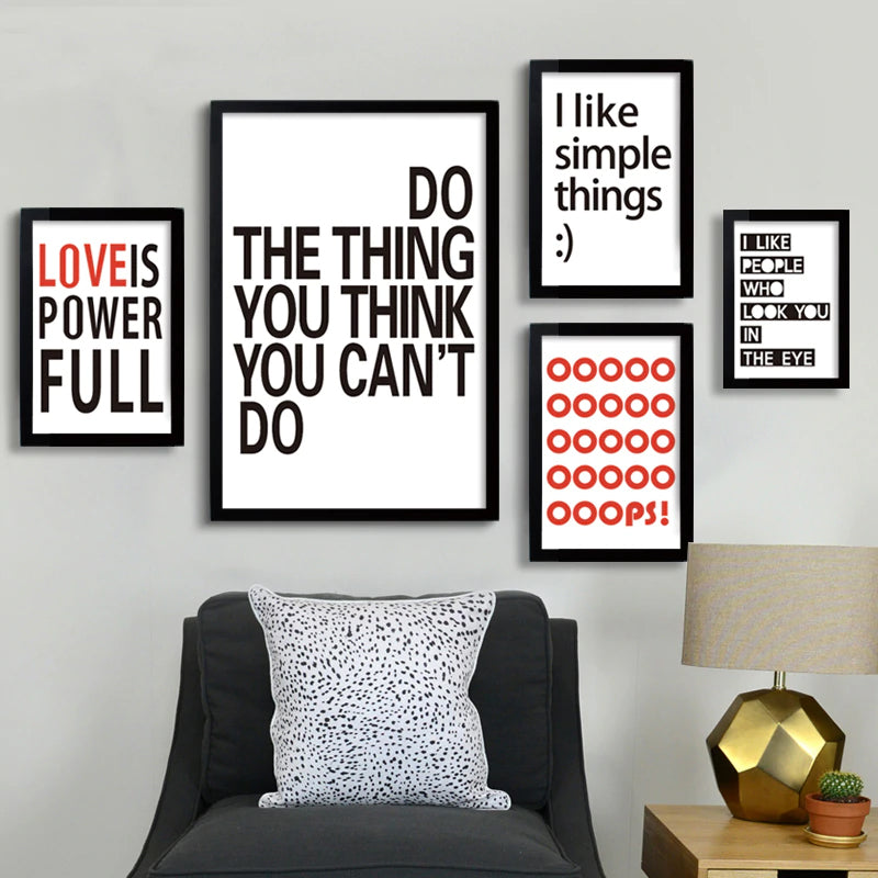 Colorful Quotes Wall Art Modern Canvas Prints Inspirational and Motivational Quotations Abstract Art Posters For Office Decor