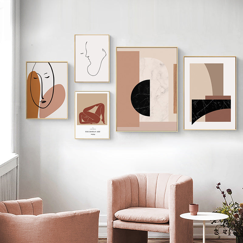 Contemporary Abstract Nordic Wall Art Canvas Prints Modern Art Posters Pictures For Bedroom Living Room Home Decor Mesmerizing Bedroom Canvas Prints