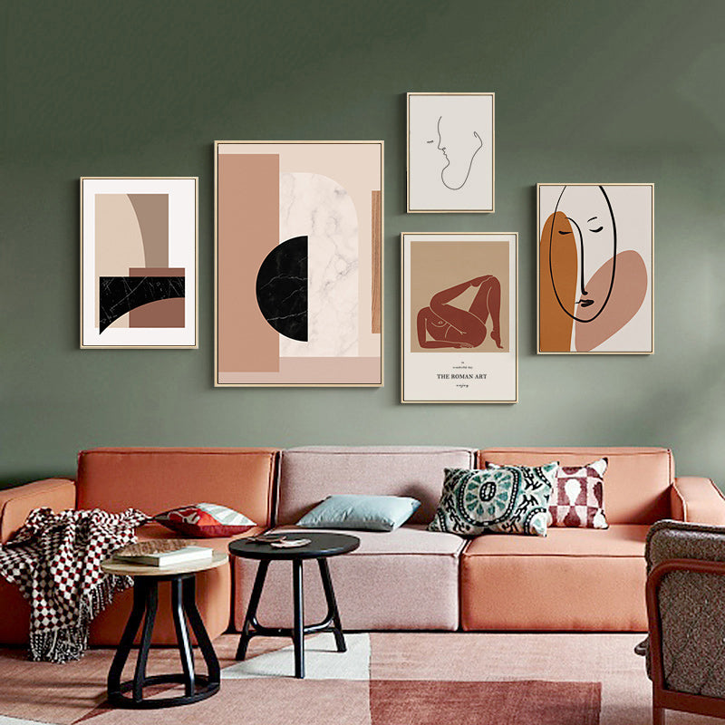 Contemporary Abstract Nordic Wall Art Canvas Prints Modern Art Posters  Pictures for Bedroom Living Room Home Decor