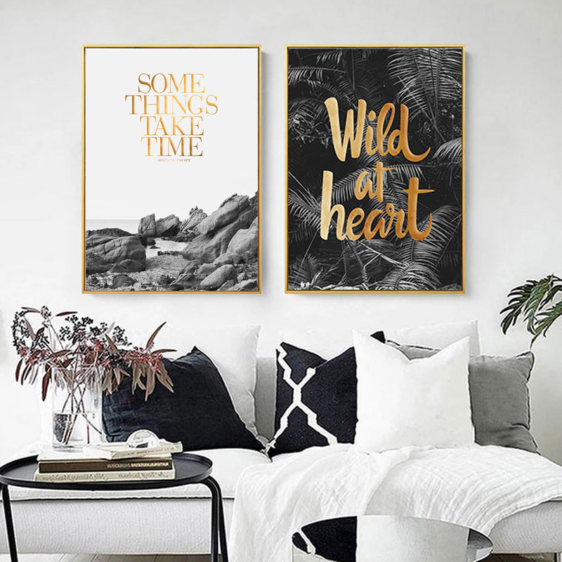 Contemporary Nordic Abstract Landscape Art Prints Canvas Wall Art Inspiring Quote Paintings Art Posters For Living Room