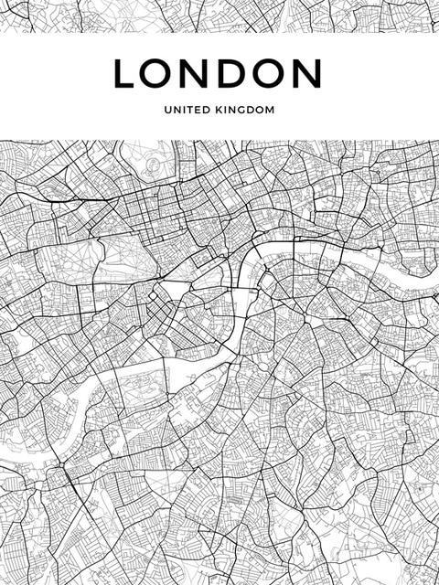 Customized City Map Poster For Your Town Or City. These Simple Minimalist Black & White Canvas Prints Are Ideal For Stylish Home Office Wall Art Decor