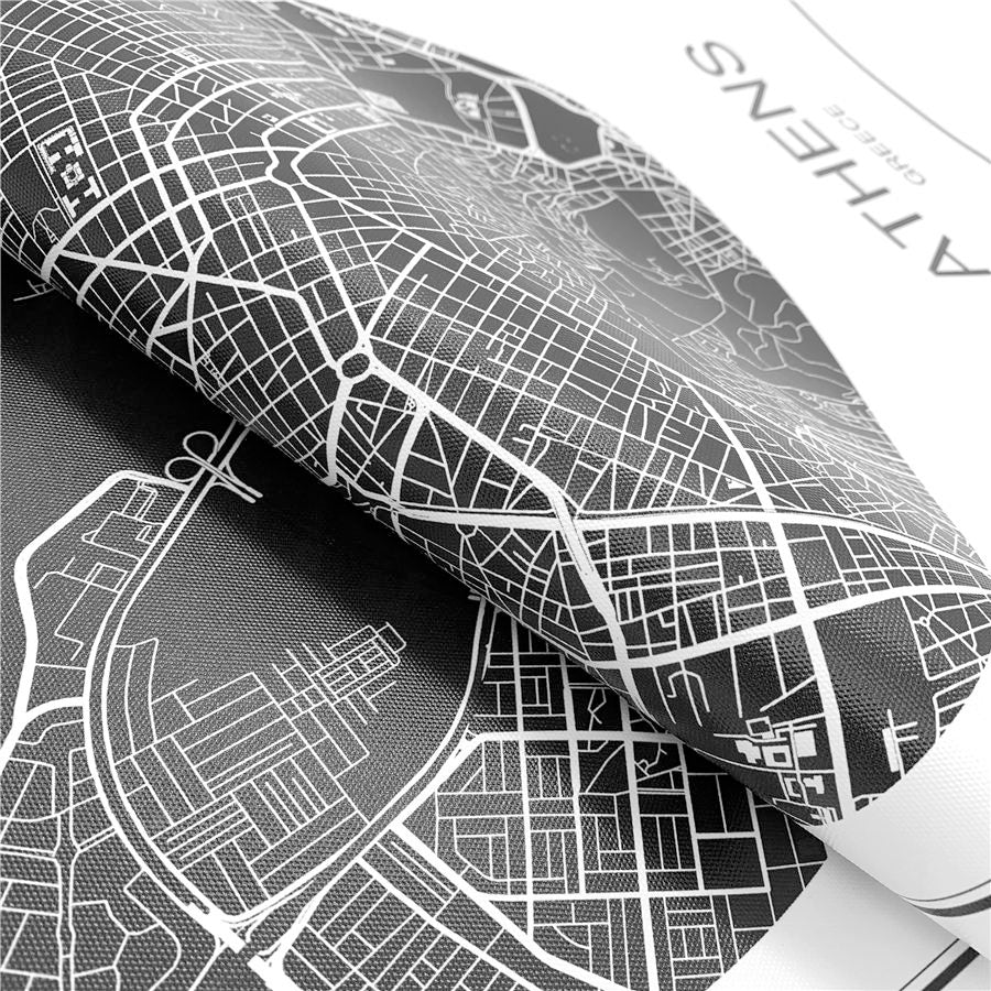 Customized City Map Wall Art Minimalist High Quality Black & White Fine Art Canvas Prints Custom Printed For Your Town Or City Perfect For Home Office