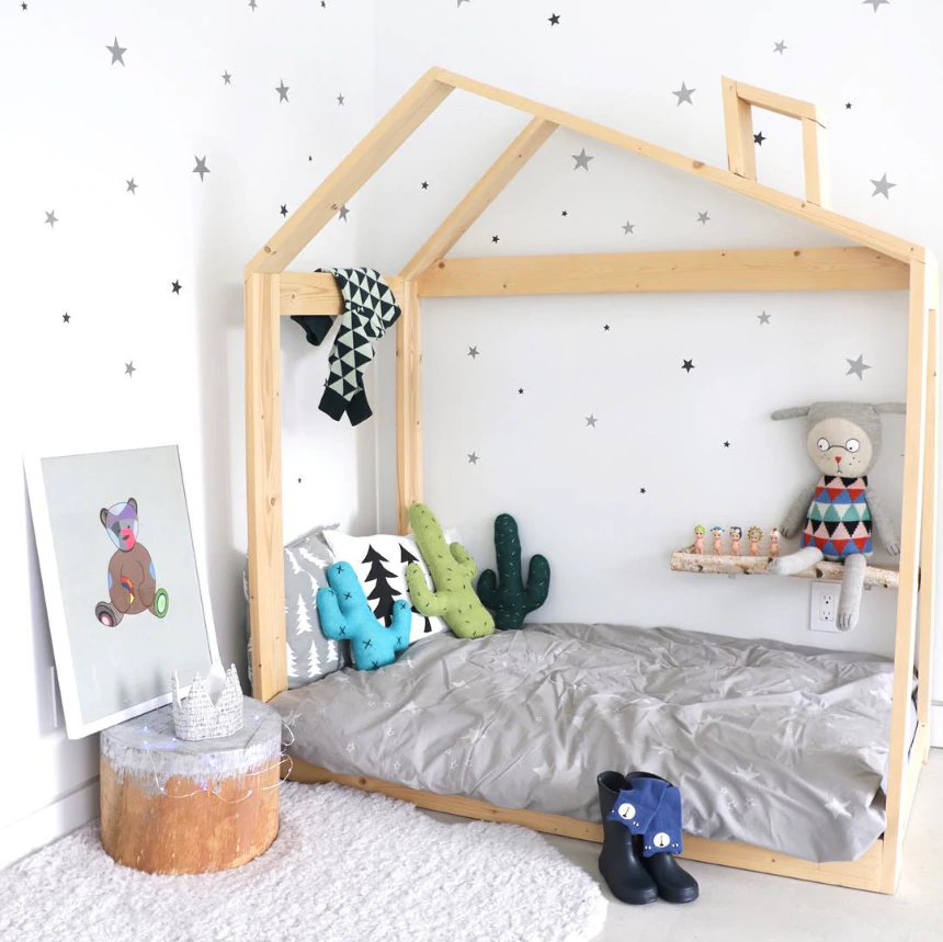 Cute Little Stars Wall Decals For Nursery Room Decor Removable Multiple Colored Star Stickers For Kids Room Nordic Style Decor