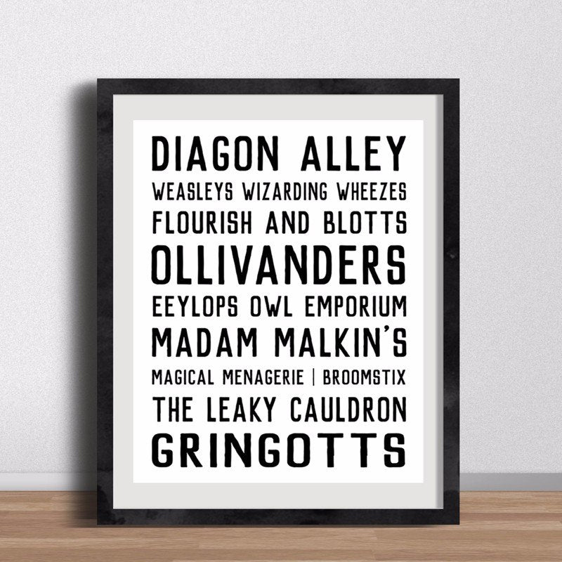 DIAGON Alley Sign Poster Wizarding World Wall Art Cool Minimalist Canvas Prints Posters For Bedroom Living Room Home Decor