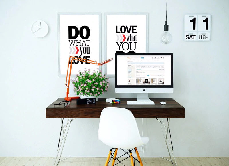 Do What You Love Love What You Do Motivational Wall Art Black and White Nordic Canvas Paintings For Office Living Room Modern Home Decor