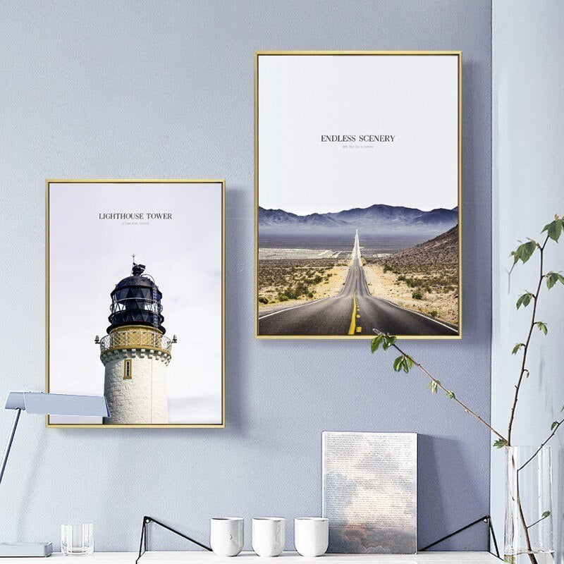 Dream Big Inspirational Landscape Travel Posters Modern Nordic Wanderlust Wall Art Canvas Prints For Offices And Modern Home Decor