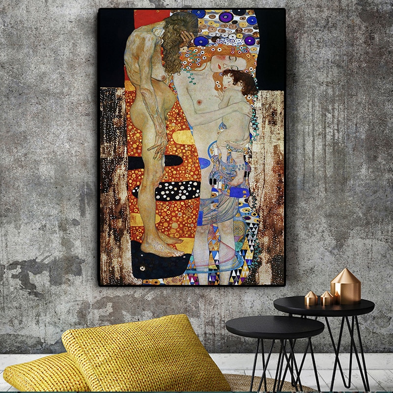 Klimt detail - fine art print poster various sizes The Three Ages of Woman