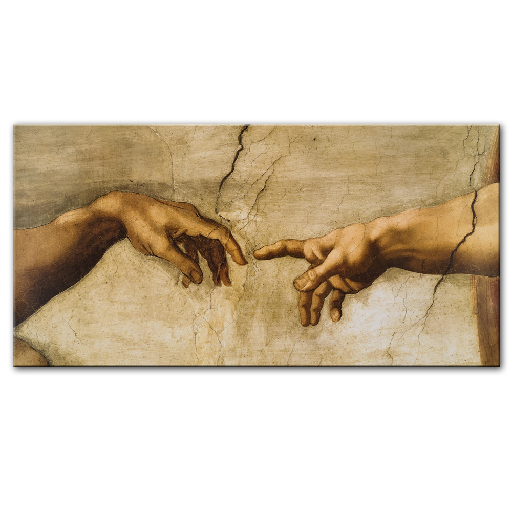 Famous Artists Michelangelo Wall Art Creation Of Adam Painting Fine Art Canvas Giclee Print Renaissance Art Pictures Iconic Imagery