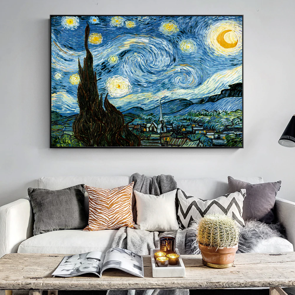 VINCENT VAN GOGH Paintings PHOTO Print POSTER Art Painter Starry Night Portrait