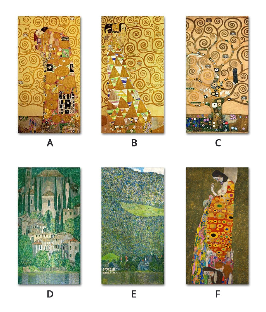 Famous Artists Wall Art Gustav Klimt Trees Paintings Fine Art Canvas Prints Classic Pictures For Modern Living Room Home Intetrior Decoration