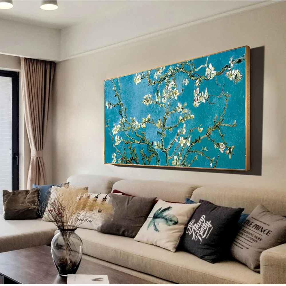 Famous Artists Wall Art Van Gogh Almond Blossoms Painting Fine Art Canvas Giclee Print Classic Impressionist Floral Paintings