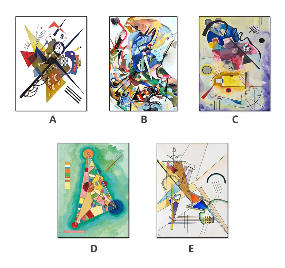 Famous Artists Wassily Kandinsky Abstract Wall Art Fine Art Canvas Prints Modern Vintage Classic Paintings Posters For Living Room Decor
