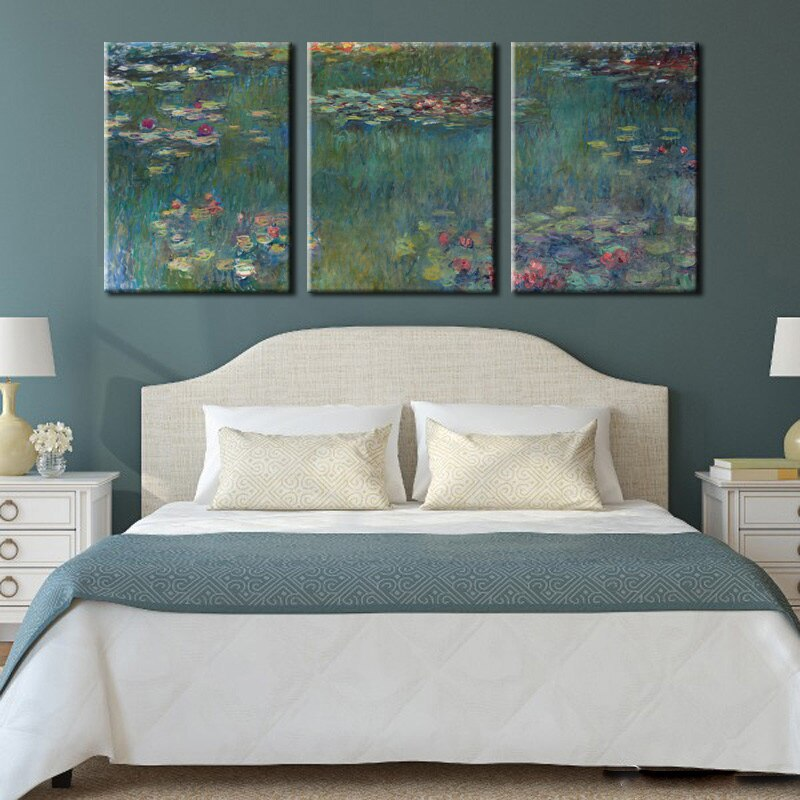 Famous Painting Impressionist Claude Monet Wall Art Fine Art Canvas Prints Classical Pictures For Stylish Living Room Dining Room Wall Art Decor Set of 3