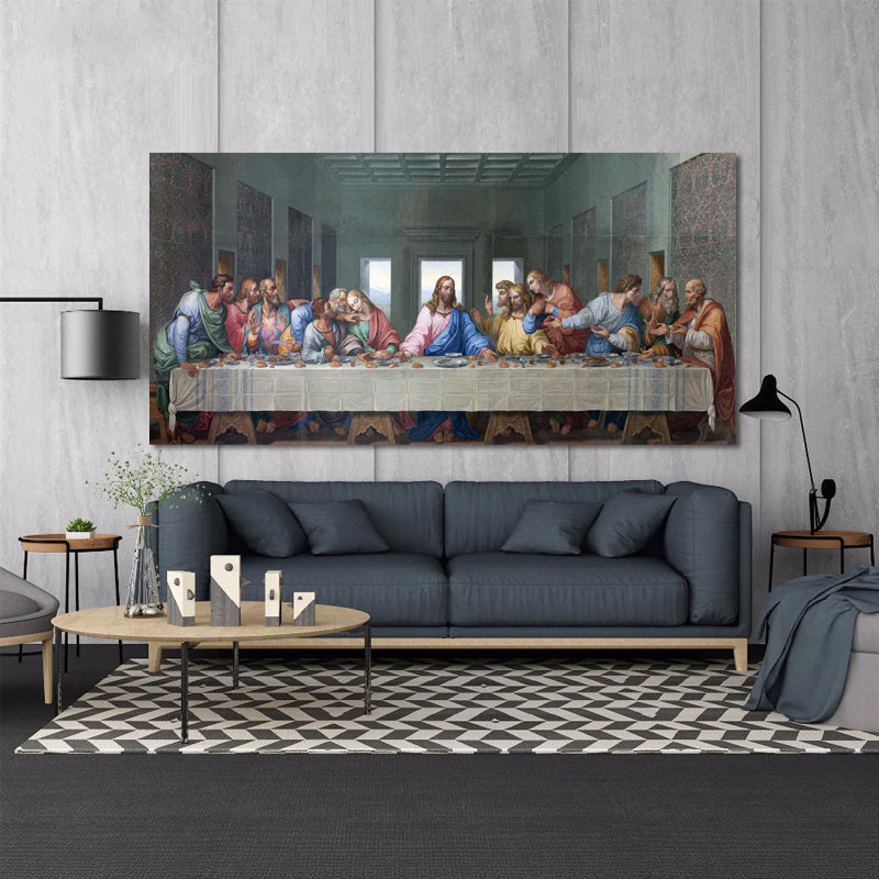 Famous Paintings Leonardo Da Vinci's The Last Supper Poster Fine Art Canvas Print Classic Art Paintings Wall Art For Dining Room Home Decor