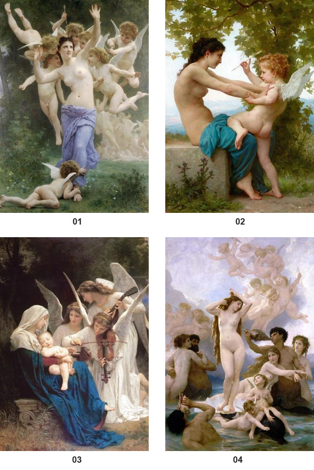 Famous Paintings Song of the Angels By William Bouguereau Fine Art Canvas Prints Classic Pictures For Living Room Dining Room Classical Art Decor