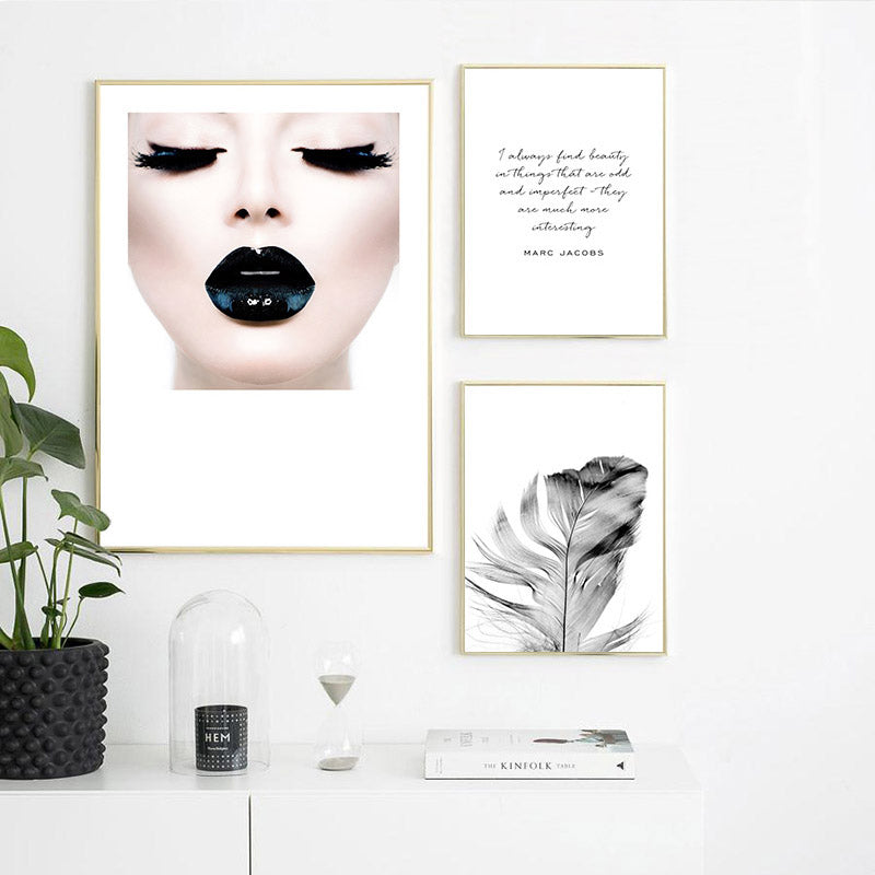 Find Beauty In Things That Are Odd Inspirational Quotes Fashion Gallery Wall Art Fine Art Canvas Prints Nordic Style Salon Art Boutique Home Decor