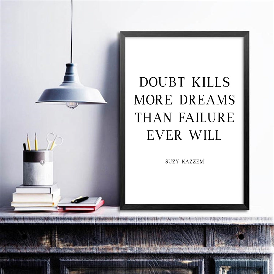 Follow Your Dreams Poster Don't Give Up Inspirational Quotation Wall Art With Beautiful Monstera Leaf Painting Fine Art Nordic Style Canvas Prints