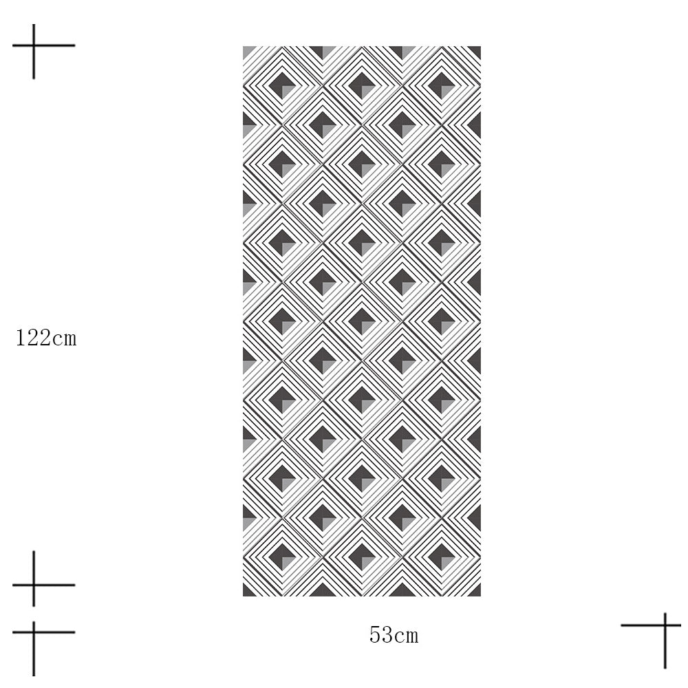 Geometric 3D Abstract Vinyl Wall Mural Self Adhesive PVC Wallpaper Covering For Walls Furniture Cabinet Surfaces Creative DIY For Home Office Interior Decor