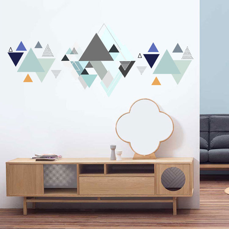 Geometric Abstract Mountains PVC Wall Mural Peel And Stick Wall Decal Nordic Style Modern Creative DIY For Living Room TV Wall Sofa Wall Background Decoration