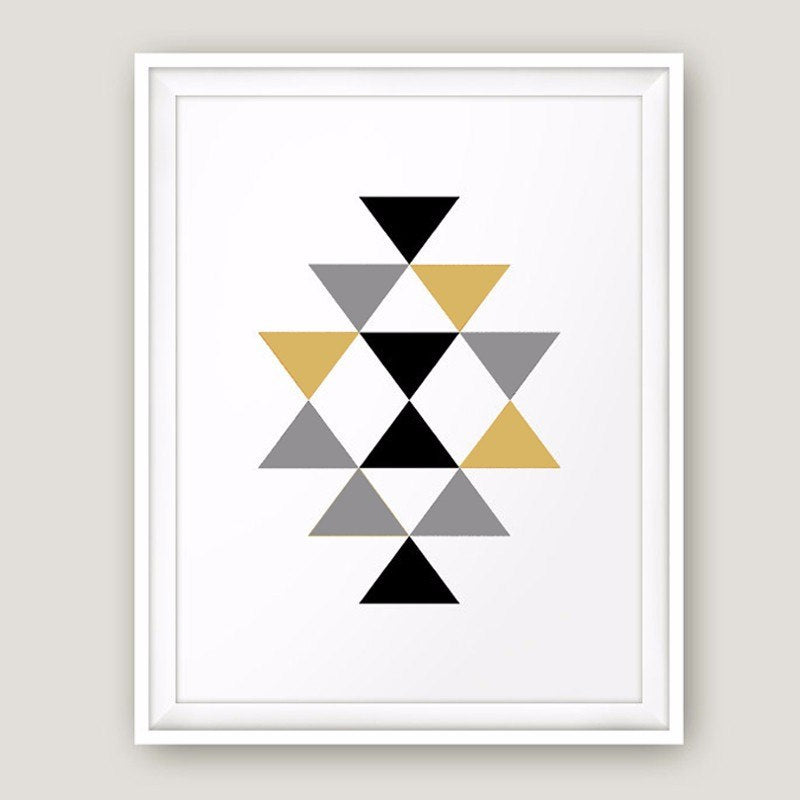 Geometric Aztec Art Minimalist Abstract Canvas Painting Nordic Poster Print Wall Art Pictures For Modern Room Home Decor