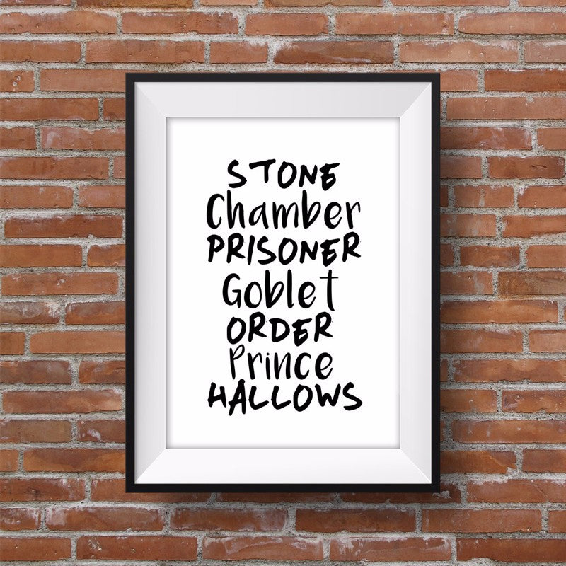 Harry Potter Fan Gift Idea Secret Wizard Code List Canvas Painting Wall Art Poster Decoration For Children's Room Home Decor