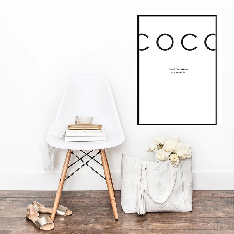 I Don't Do Fashion Black And White Posters Nordic Style Minimalist Wall Art Fine Art Canvas Prints Salon Wall Art For Boutique Living Room Bedroom Home Decor