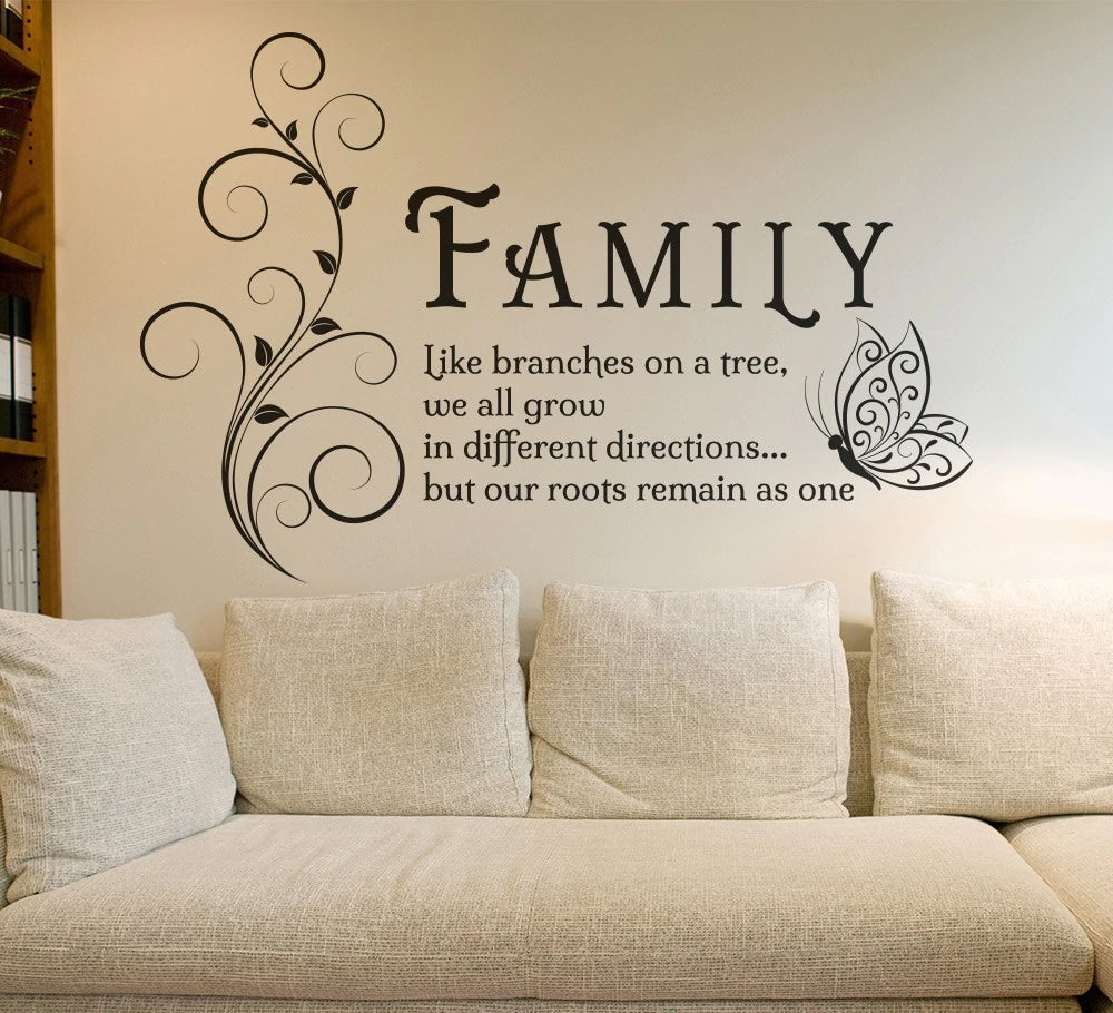 Inspirational Quotations For The Home Art Decals Vinyl Wall Stickers Removable Mural Wall Art For Living Room Home Decor