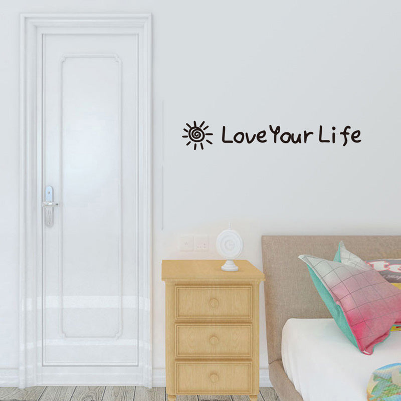 Inspirational Words Wall Art Decal Removable Peel-and-stick Wall Mural Sticker For Living Room Bedroom Decor Simple Creative DIY Wall Art Decoration