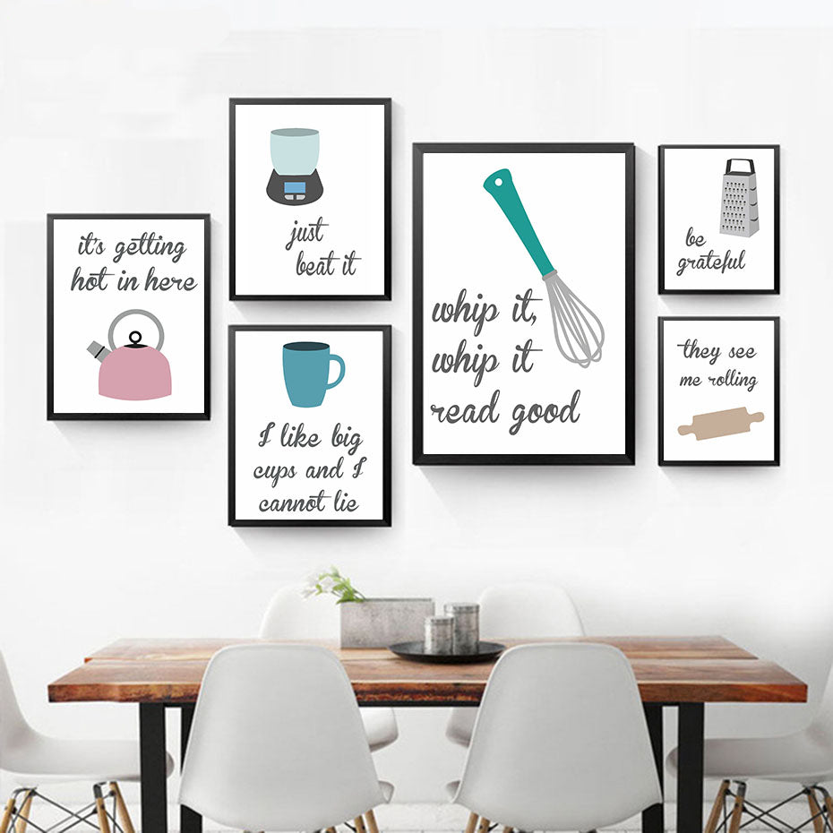 Be Grateful Motivational Kitchen Quote Poster Print Picture Wall Art