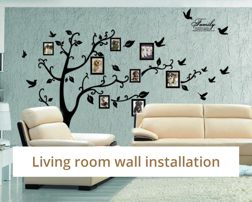 Big Family Photo Tree Mural PVC Wall Decals Removable Self Adhesive Family Room Wall Stickers DIY Art Mural Home Decor 200cm x 250cm