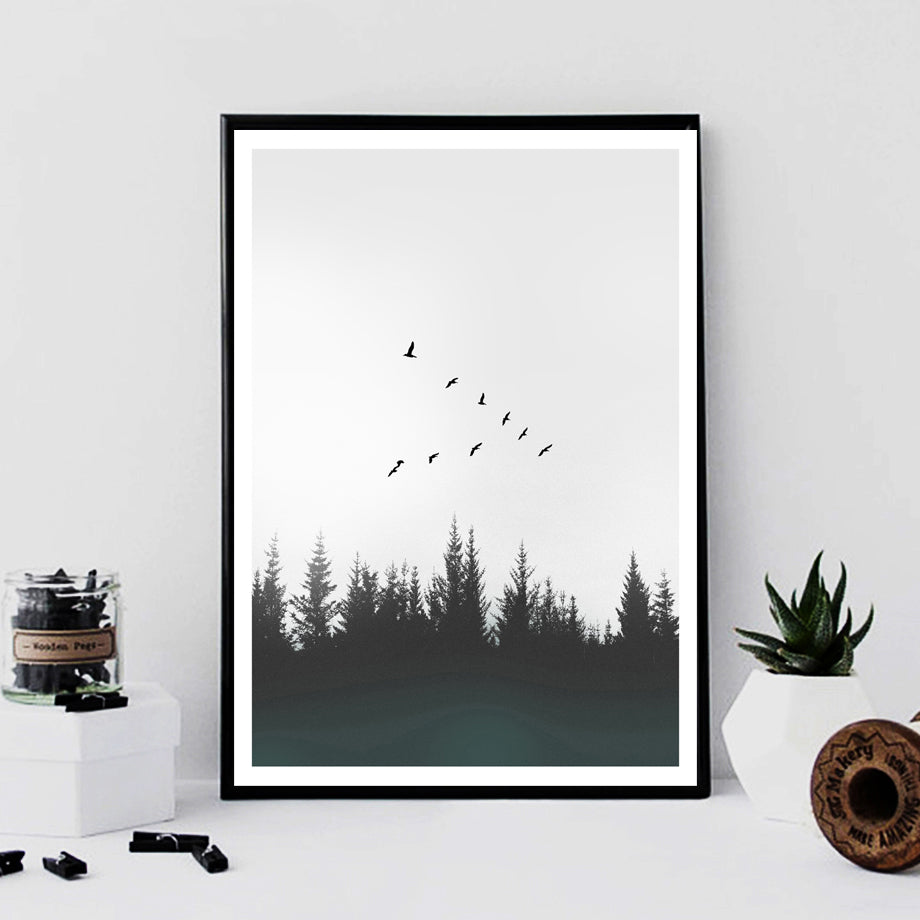 Life Is Full Of Beautiful Moments Quotation Wall Art Nordic Landscape Minimalist Black White Inspirational Posters Fine Art Canvas Prints Modern Home Decor